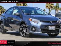 CARFAX One-Owner. . 2016 Toyota Corolla S Plus FWD CVT