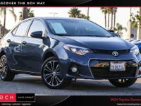 CARFAX One-Owner. Clean CARFAX. . 2016 Toyota Corolla S