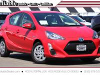 2016 Toyota Prius c One br br Red FWD CVT 1.5L 4