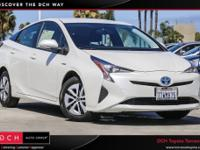 CARFAX One-Owner. Blizzard Pearl 2016 Toyota Prius Two
