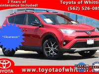 Take a look at this Red Hot 2016 Toyota RAV4 SE with a
