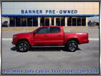 Red 2016 Toyota Tacoma TRD Sport 4D Double Cab RWD