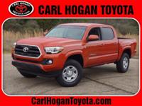 Clean CARFAX. This 2016 Toyota Tacoma SR5 in Inferno