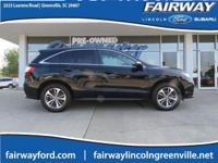 2017 Acura RDX Advance Package Black Odometer is 17444