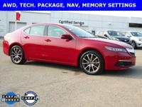 SUPER NICE ONE OWNER TLX 3.5 V6 WITH TECH PACKAGE IN