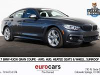 Black 2017 BMW 4 Series 430i xDrive Gran Coupe AWD