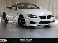 This 2017 BMW M6 Convertible is a One Owner vehicle