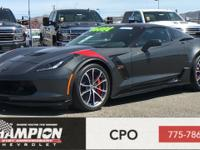 Certified. Dark Gray Metallic 2017 Chevrolet Corvette