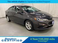 2017 Chevrolet Cruze LT CARFAX One-Owner. Odometer is