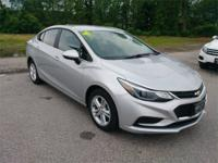 Recent Arrival! 2017 Chevrolet Cruze LT Silver Odometer