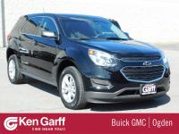 2017 BLACK CHEVROLET EQUINOX LS AWD! CLEAN CAR FAX ONE