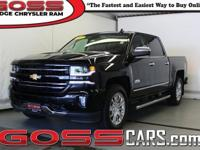 Black 2017 Chevrolet Silverado 1500 High Country Crew
