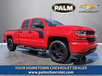 This 2017 Chevrolet Silverado 1500 Custom in Red Hot