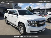 White 2017 Chevrolet Suburban LT RWD 6-Speed Automatic