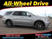 LOCAL TRADE IN, LEATHER INTERIOR, Durango GT, 4D Sport