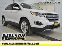 Recent Arrival! 2017 Ford Edge SEL White Odometer is