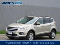 Our 2017 Ford Escape SE 4WD SUV is a knockout in White