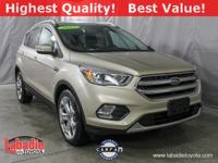 2017 Ford Escape Titanium White Clean CARFAX. 4X4, GPS