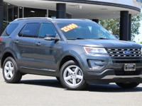 CARFAX One-Owner. Clean CARFAX. Gray 2017 Ford Explorer