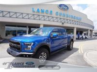 Clean CARFAX.2017 Ford F-150 Raptor Lightning Blue 4WD