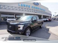 Clean CARFAX.2017 Ford F-150 XL Shadow Black RWD 2.7L
