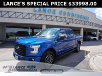 2017 Ford F-150 XLT Lightning Blue 4WD 5.0L V8