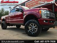 2017 FORD F250 PLATINUM CREW CAB SHORT BED 4WD CUSTOM