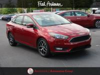 CARFAX One-Owner. 2017 Ford Focus SEL Ruby Red