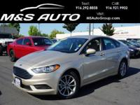 Get ready for our 2017 Ford Fusion SE Sedan finished in
