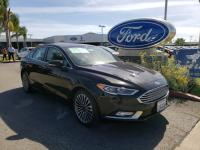 CARFAX One-Owner. Black 2017 Ford Fusion SE FWD 6-Speed