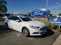 CARFAX One-Owner. White 2017 Ford Fusion SE FWD 6-Speed