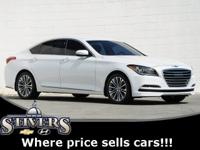 2017 Genesis G80 3.8 White Clean CARFAX.Serving