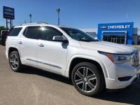 White Frost Tricoat 2017 GMC Acadia Denali AWD 6-Speed