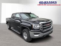 CARFAX One-Owner. Black 2017 GMC Sierra 1500 SLE 4WD