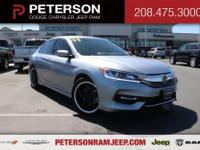 Our 2017 Honda Accord Sedan Sport is pouring on the