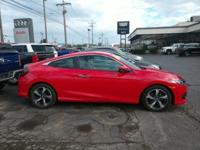 Red 2017 Honda Civic Touring FWD CVT 1.5L I-4 DI DOHC