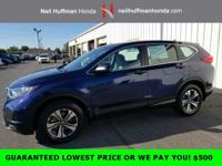 Royal Blue Pearl 2017 Honda CR-V LX AWD CVT 2.4L I4
