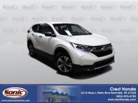 Our Certified 2017 Honda CR-V LX AWD presented in White