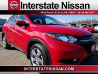 Clean CARFAX. Red 2017 Honda HR-V EX-L w/Navigation AWD