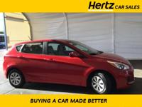 Certified. Red Metallic 2017 Hyundai Accent SE FWD