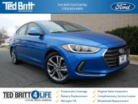 2017 Hyundai Elantra Limited in Electric Blue Metallic