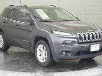 Clean CARFAX.Gray 2017 Jeep Cherokee Latitude 4WD