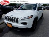 2017 Bright White Clearcoat Jeep Cherokee 9-Speed 948TE