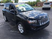 2017 Jeep Compass Latitude Black Clearcoat CARFAX