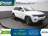 White 4WD.2017 Jeep Grand Cherokee Limited 4D Sport