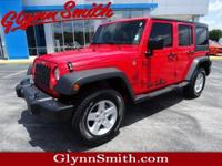 This Red 2017 Jeep Wrangler Unlimited SPORT might be