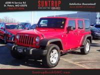This Firecracker Red Clear Coat 2017 Jeep Wrangler