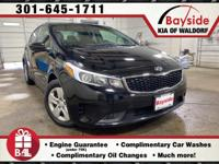 CARFAX One-Owner. 2017 Kia Forte LX Aurora BlackOur