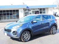 CARFAX One-Owner. Clean CARFAX. Pacific Blue 2017 Kia