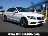 Clean CARFAX. Panoroof. White 2017 Mercedes-Benz